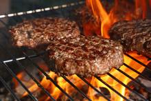 Beef Burger For Hamburger On B...