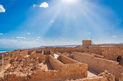 Foto  Massada UNESCO world heritage site near the Dead Sea in Israel