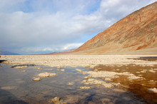 Badwater Basin In Death Valley National Park, California, USA. The Lowest Point In West Hemisphere.