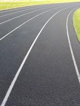 Empty Running Track Lanes