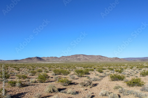 landscape with mountains and blue sky