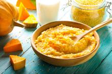 Porridge Millet Pumpkin Homemade Food