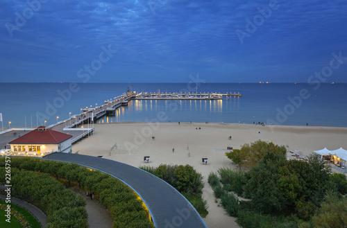 Foto op Canvas Europa Baltic Sea pier (Molo) in Sopot at dusk, Poland