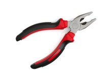A Black And Red Hand Pliers