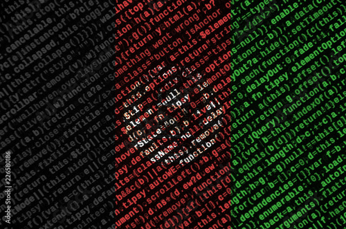 Photo Afghanistan flag is depicted on the screen with the program code