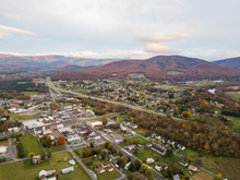 Aerial Of The Small Town Of El...