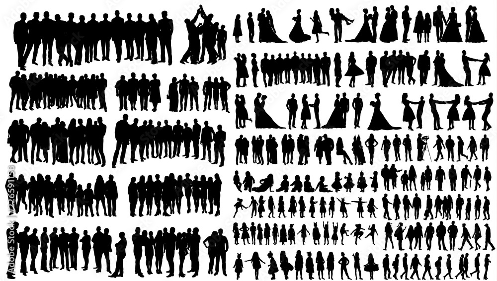 Fototapety, obrazy: silhouette people, collection