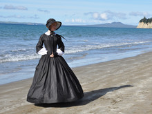 Victorian Woman On Beach
