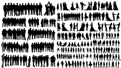 Photo  silhouette people, collection