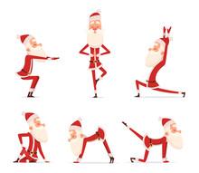 Santa Yoga Poses. Christmas Wi...