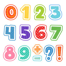 Cartoon Numbers. Colored Fun A...