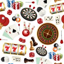 Casino Pattern. Poker Cards Do...