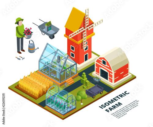 Farm greenhouse Canvas