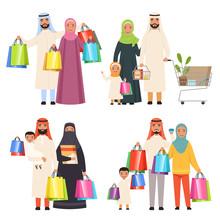 Saudi Family. Market Arabic Ma...