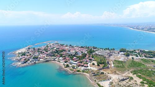 Aerial view of Side city in Antalya Turkey Wallpaper Mural