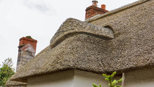 Elaborate Thatched Roof Of A C...