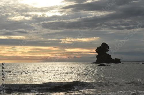 Foto op Plexiglas Water Motor sporten Sunset on the beach