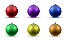 Set Of Christmas Balls. Vector Illustration.