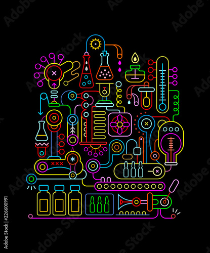 Research Laboratory neon colors