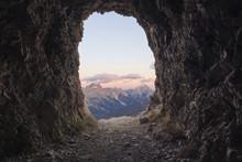 Scenic View Of Passo Falzarego...