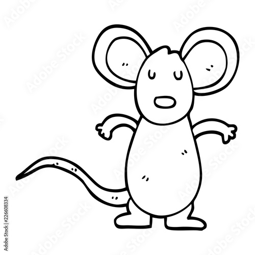 line drawing cartoon mouse rat - Buy this stock vector and explore ...