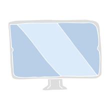 Flat Color Illustration Of A Cartoon Screen