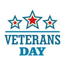 Stars Veterans Logo Logo. Flat...