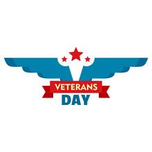 Wings Veterans Day Logo. Flat ...