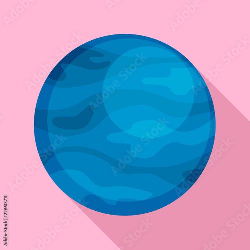 Photo Neptune planet icon
