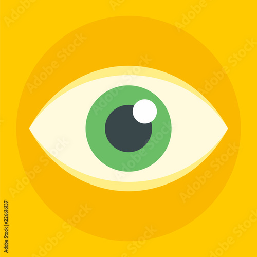 Business eye icon. Flat illustration of business eye vector icon for web design