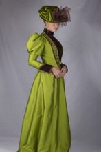 Victorian Woman In Green Ensemble