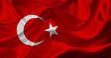 Turkish Flag Waving For Celebration And Private Day