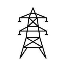 Electric Tower Icon. Outline I...