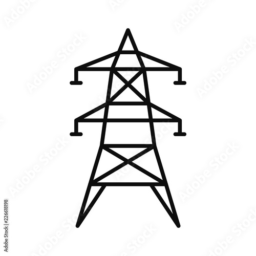 Electric tower icon Fototapete