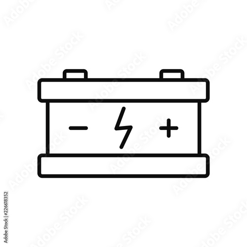 eco car battery icon outline illustration of eco car battery vector icon for web design isolated on white background buy this stock vector and explore similar vectors at adobe stock eco car battery icon outline