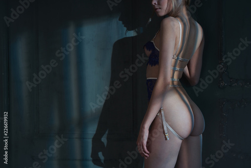 Foto op Plexiglas womenART Erotic figure of young beautiful woman in sexy lingerie