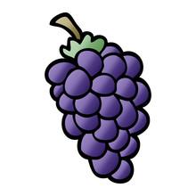 Cartoon Doodle Bunch Of Grapes