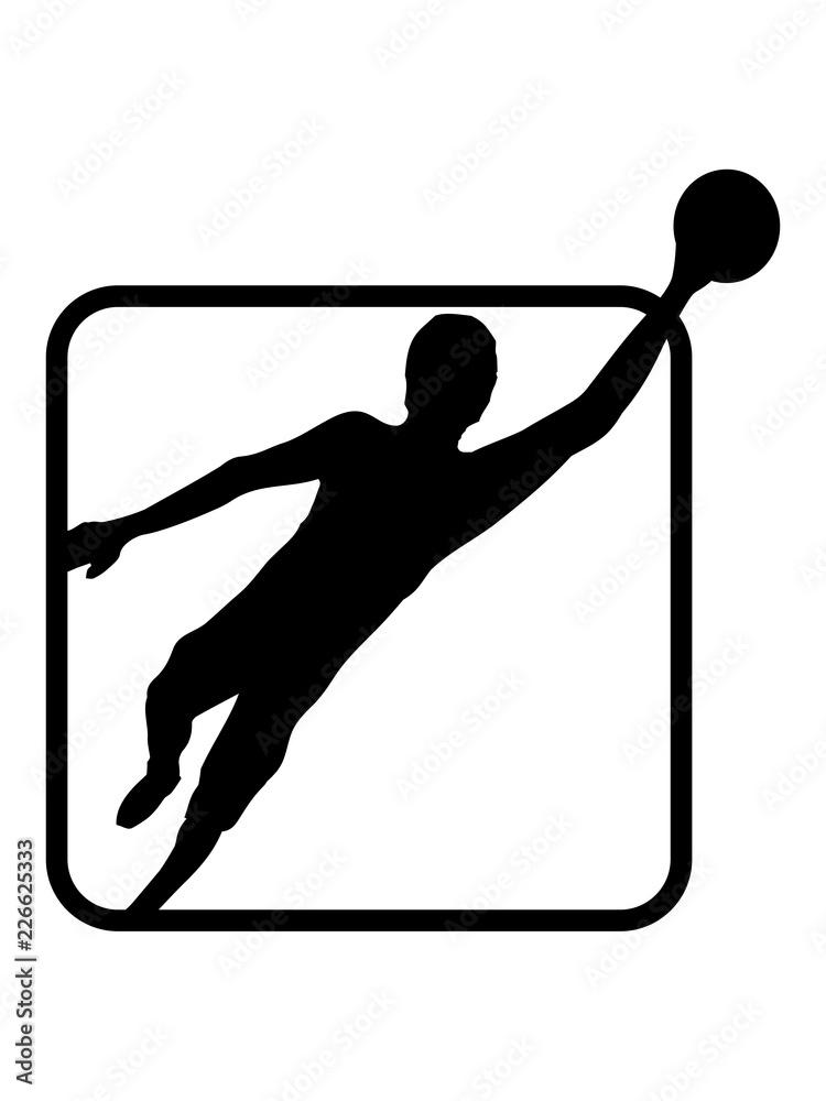 Gamesageddon Stock Logo Torwart Torhuter Halten Fussball