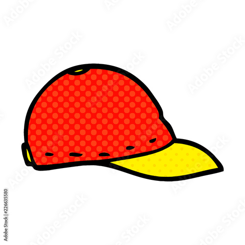 Photo  cartoon doodle baseball cap