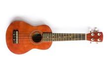 Hawaiian Ukulele Guitar Isolated
