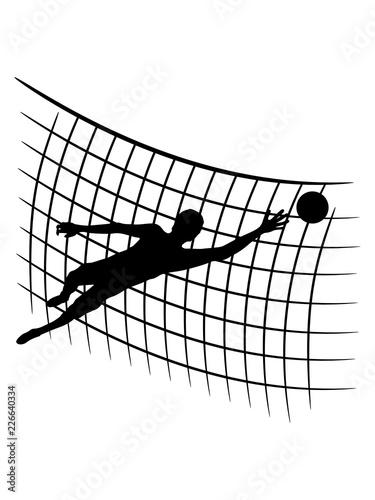 Design Netz Muster Torwart Torhuter Halten Fussball Schiessen