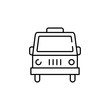 Indian car icon. Element of India for mobile concept and web apps illustration. Thin line icon for website design and development, app development. Premium icon