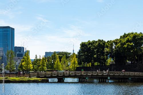 Photo (東京都ー都市風景)和田倉濠と芝方面の風景1