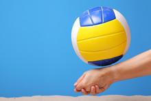 Hands Of A Beach Volleyball Fe...