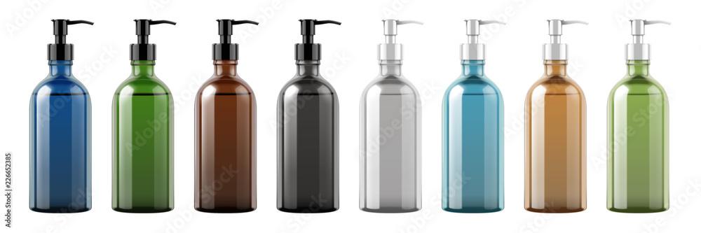 Fototapeta Set of pump bottles