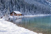 Log Cabin Alongside Mountain L...