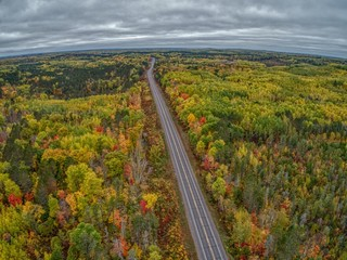 Fall Colors in Brule River State Forest in Northern Wisconsin during October