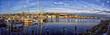Leinwandbild Motiv Panorama Hafen Flensburg