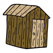 Cartoon Doodle Wood Shed