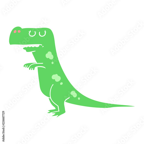 Photo  flat color style cartoon dinosaur